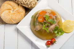 Pork meat in aspic Stock Photo