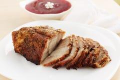 Pork meat baked stock image