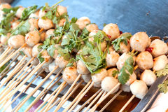 Pork meat ball grill Stock Images