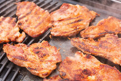 Pork meat on barbecue Stock Photography
