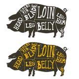 Pork meat cuts Stock Photo
