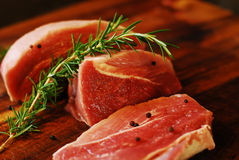 Pork meat on a cutting board Royalty Free Stock Photography