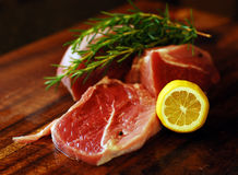 Pork meat on a cutting board Royalty Free Stock Photos