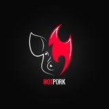 Pork meat fire concept menu design background Royalty Free Stock Photos
