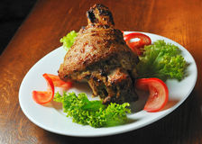Pork meat fried on grill Stock Images