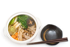 Pork meat hot pot Stock Image