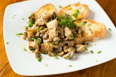 Pork meat and mushrooms stew Royalty Free Stock Photography