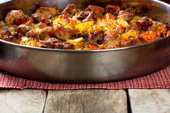 Pork meat with potatoes Stock Image
