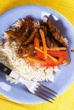 Pork meat with rice Stock Photos