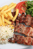 Pork meat skewer Stock Image