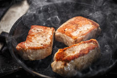 Pork meat steak Stock Photos