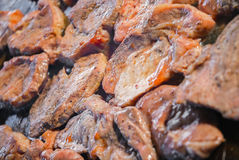 Pork meat steak grill BBQ barbecue detail Stock Photos