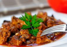 Pork meat stew Stock Image