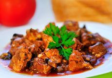 Pork meat stew Stock Images