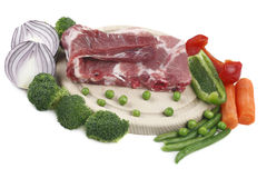 Pork meat and vegetable. Royalty Free Stock Images