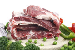 Pork meat and vegetable. Stock Photos