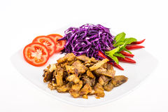 Pork meat with vegetable Stock Photo