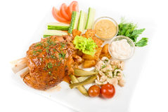 Pork meat with vegetables Royalty Free Stock Photos