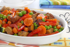 Pork meat with vegetables Royalty Free Stock Photography