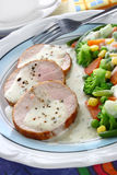 Pork meat with vegetables Royalty Free Stock Images