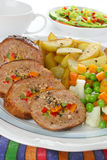 Pork meat with vegetables Stock Photos
