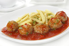 Pork meatballs Stock Image
