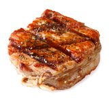 Pork Medallions closeup isolated on white background Stock Photography