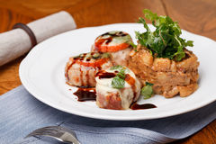 Pork Medallions with sauce Royalty Free Stock Image