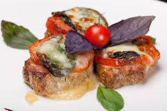 Pork Medallions with sauce Royalty Free Stock Photography