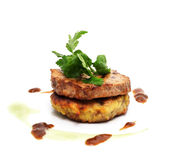 Pork Medallions with Sauce Royalty Free Stock Photo