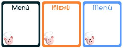 Pork Menu Stock Photo