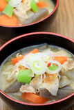 Pork miso soup Royalty Free Stock Image