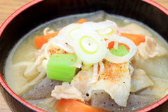 Pork miso soup Royalty Free Stock Photos
