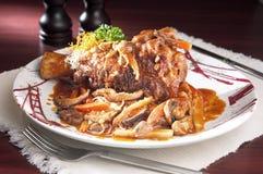 Pork Mushroom Stew stock photos