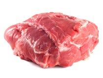 Pork neck carbonade. Fresh raw pork meat. Isolated on white background Stock Photo