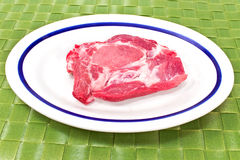 Pork neck chop meat Royalty Free Stock Photography