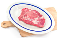 Pork neck chop meat Royalty Free Stock Photo