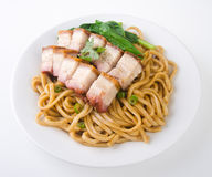Pork noodle. BBQ pork noodle Royalty Free Stock Photos