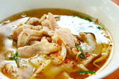 Pork noodle soup Stock Images