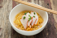 Pork Noodle Soup Recipe Royalty Free Stock Photography