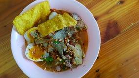 Pork noodle soup. Spici food eat noodle Royalty Free Stock Photo