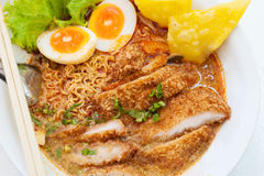 Pork Noodle Tom Yum Royalty Free Stock Images