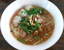 Pork noodle Tom yum, Thai food,  Thailand Royalty Free Stock Image
