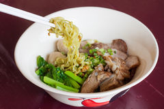 Pork noodle Stock Images