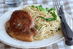 Pork with noodles Royalty Free Stock Image