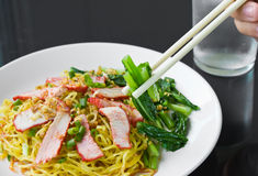 Pork noodles. Stock Images