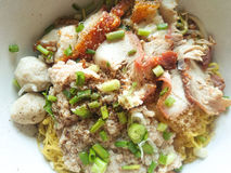 Pork noodles Royalty Free Stock Photo
