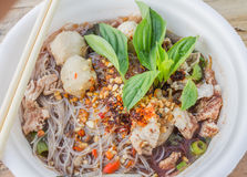 Pork noodles Royalty Free Stock Photography