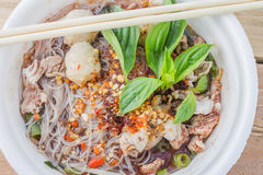 Pork noodles Stock Photography