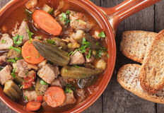 Pork and okra gumbo Stock Images